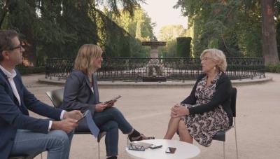 Manuela Carmena entrevistada por Gemma Nierga y Rodolfo Irago en exclusiva para Marie Claire
